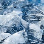 capa de hielo fino